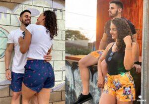 imagem de casal co shorts la vibora combinando